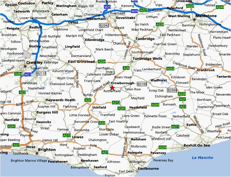 Map Of The South Of England Uk  London Map